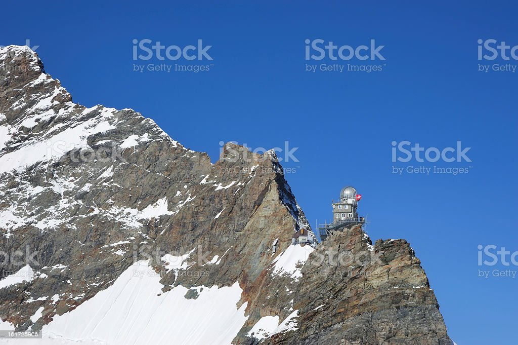 Sphynx observatory in the Jungfrau region stock photo