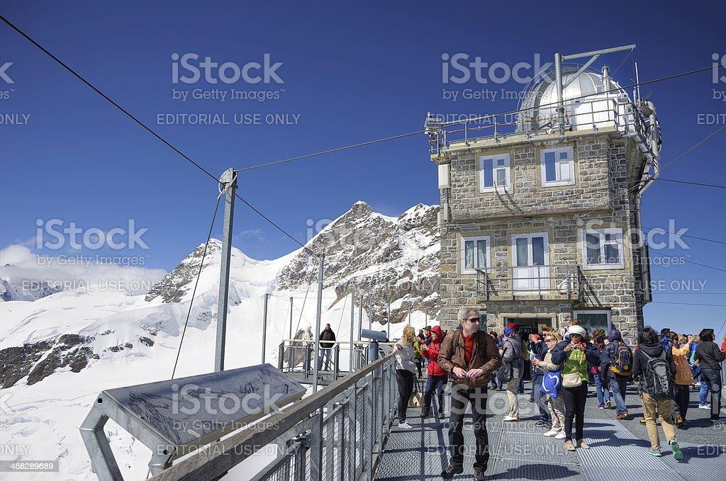 Sphynx observatory on Jungfrau, Switzerland royalty-free stock photo