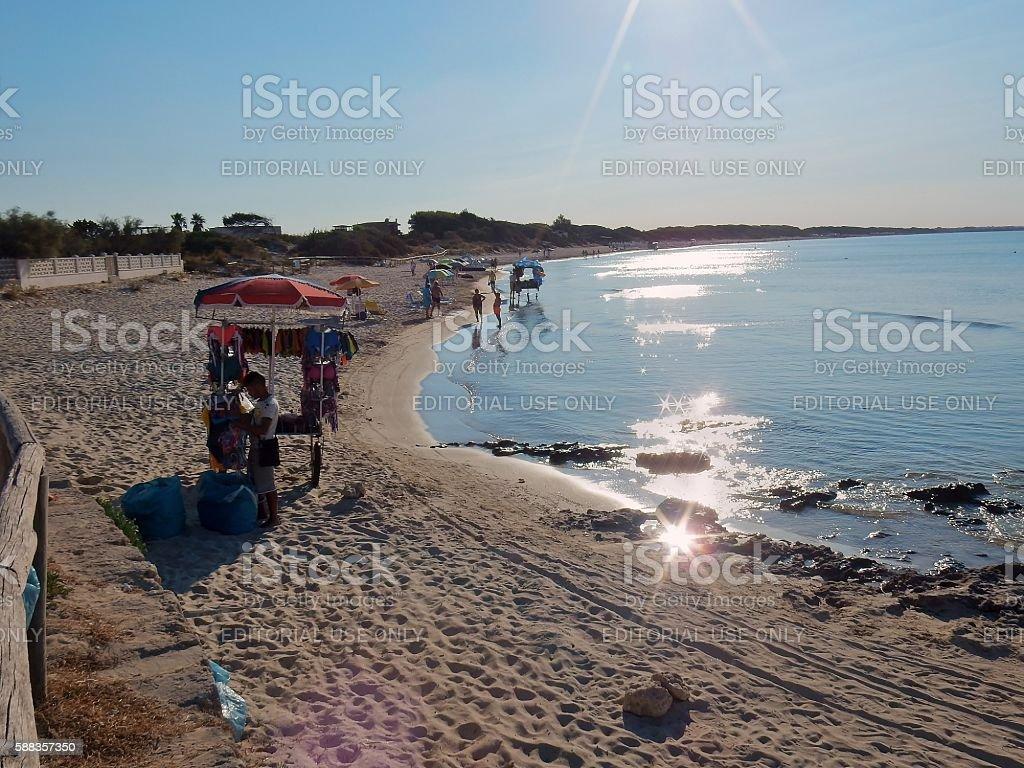 Spiaggia a Punta Prosciutto stock photo
