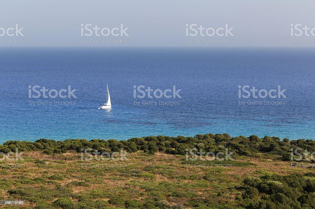 Spiaggia di Porto Sa Ruxi stock photo