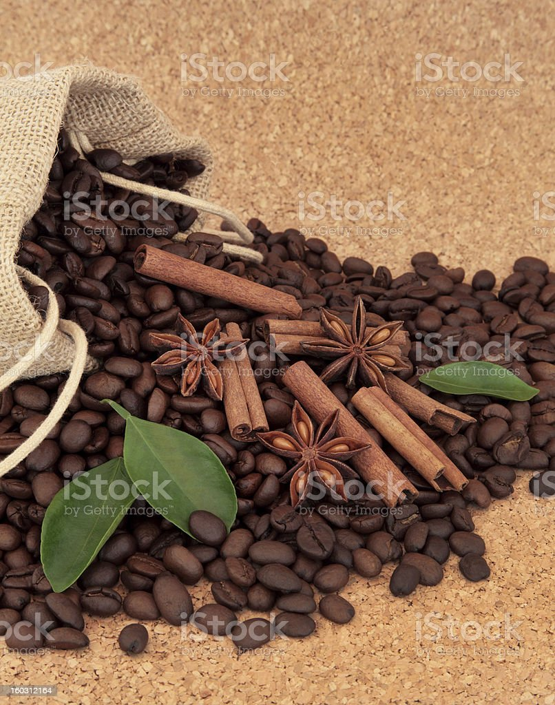 Spice and Coffee Beans royalty-free stock photo