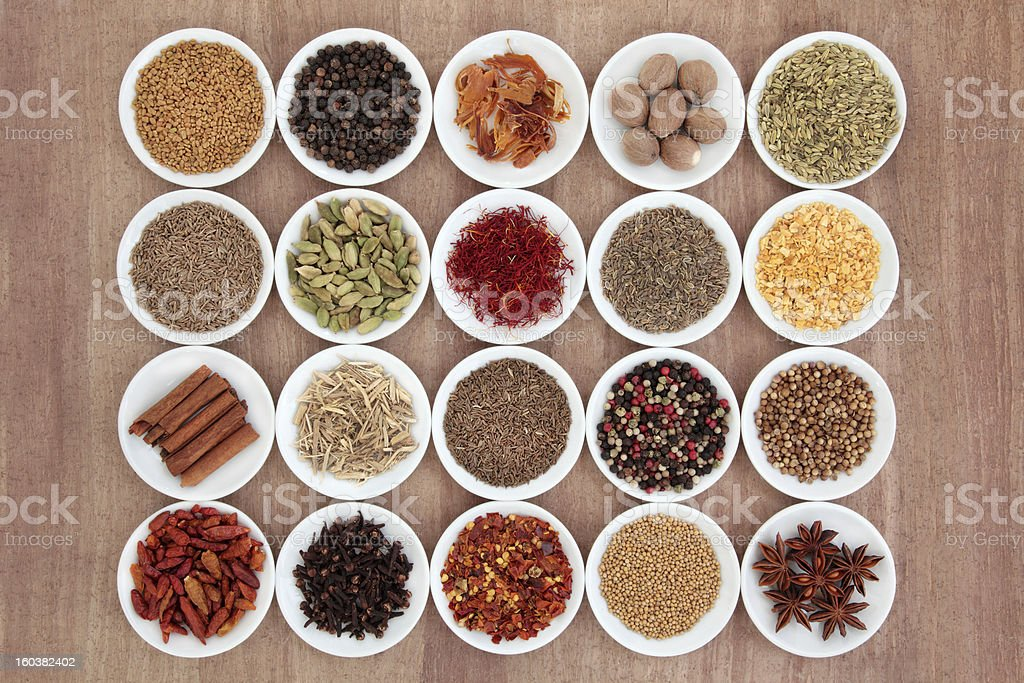 Spice and Herb Sampler stock photo