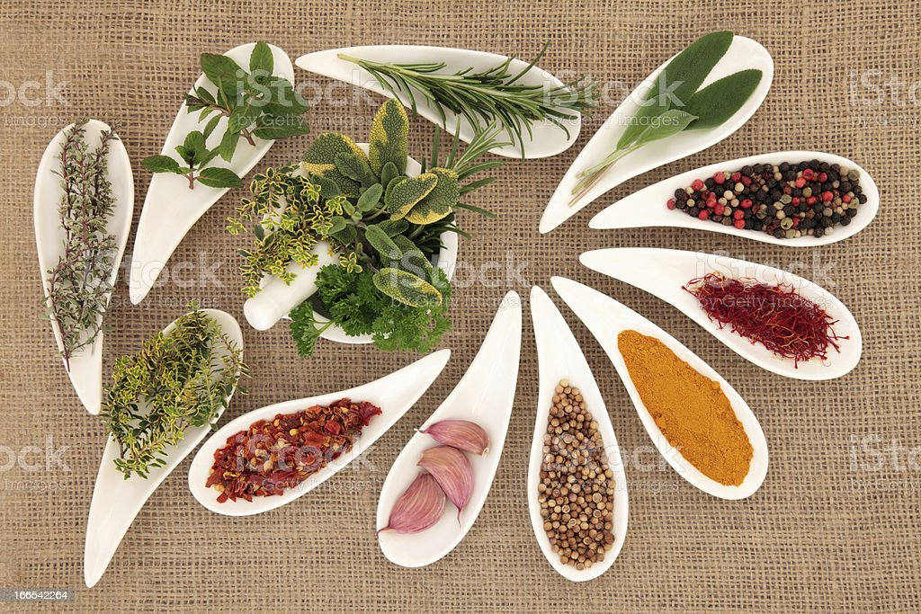 Spice and Herb Seasoning royalty-free stock photo