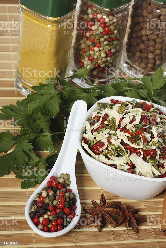 Spice and herbs royalty-free stock photo