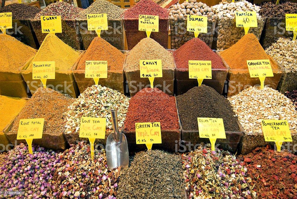 Spice and tea market royalty-free stock photo