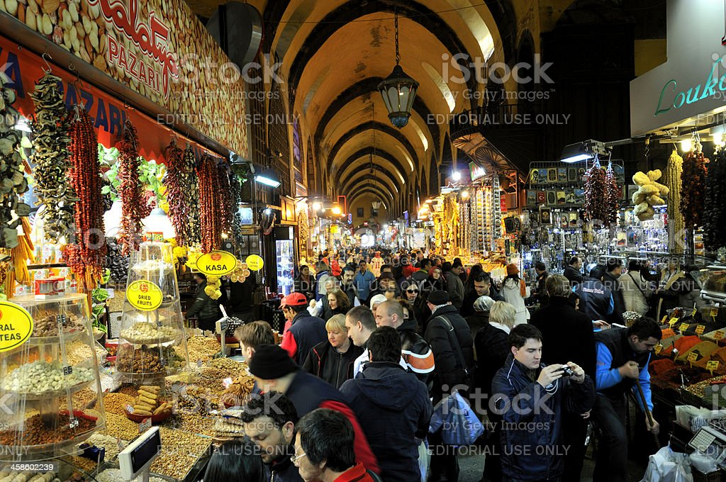 Spice Bazaar in Istanbul stock photo