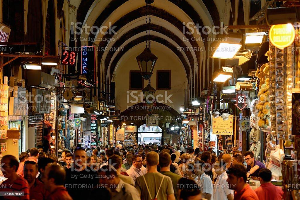 Spice Bazaar in Istanbul, Turkey. stock photo
