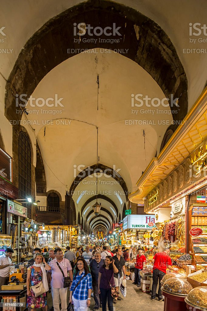 Spice bazaar, Istanbul, Turkey stock photo