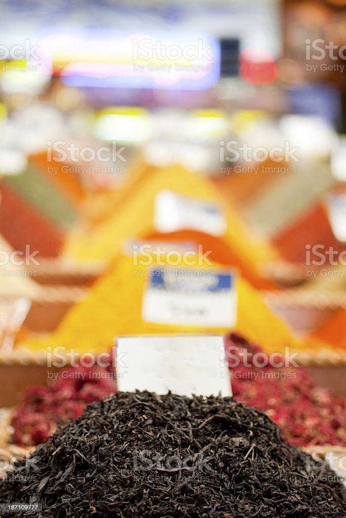 spice bazaar istanbul turkiye stock photo
