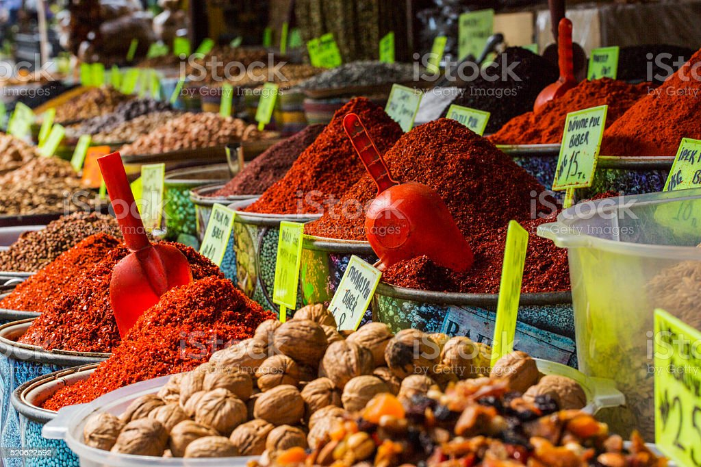 Spice Bazaar stock photo