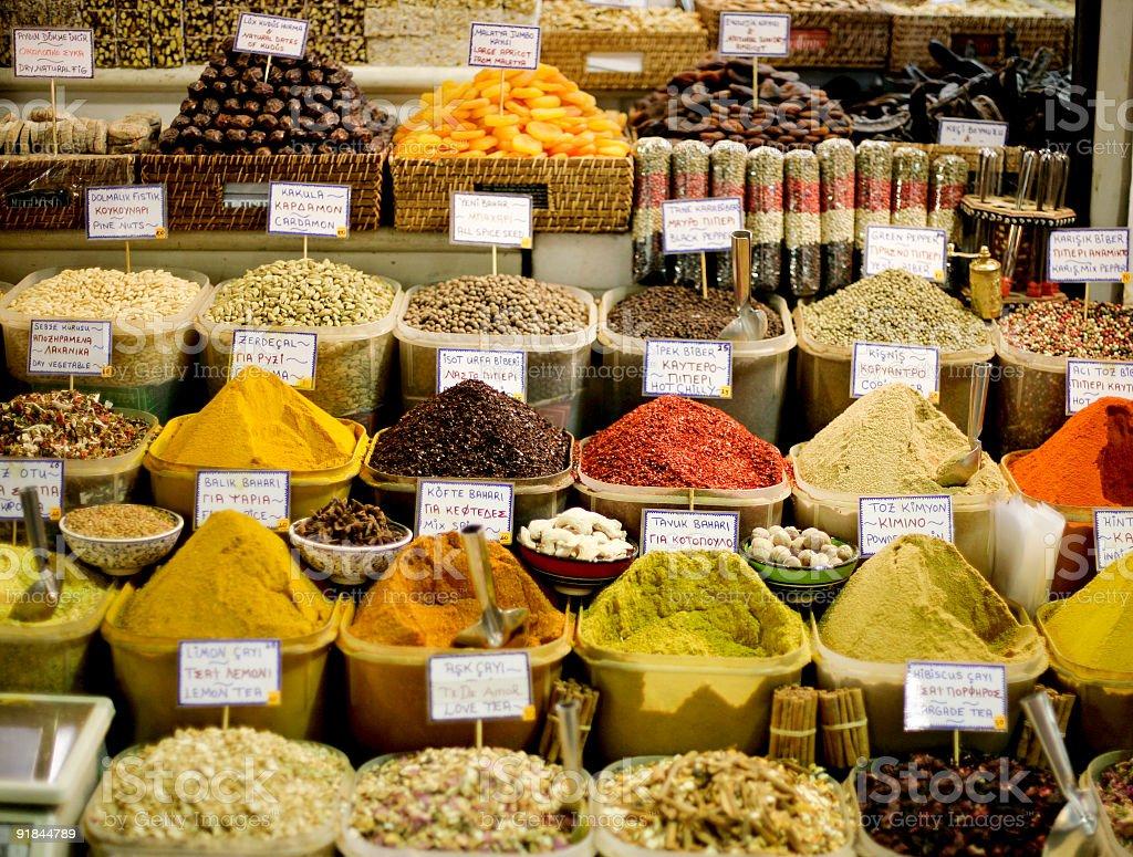 Spice Bazaar royalty-free stock photo