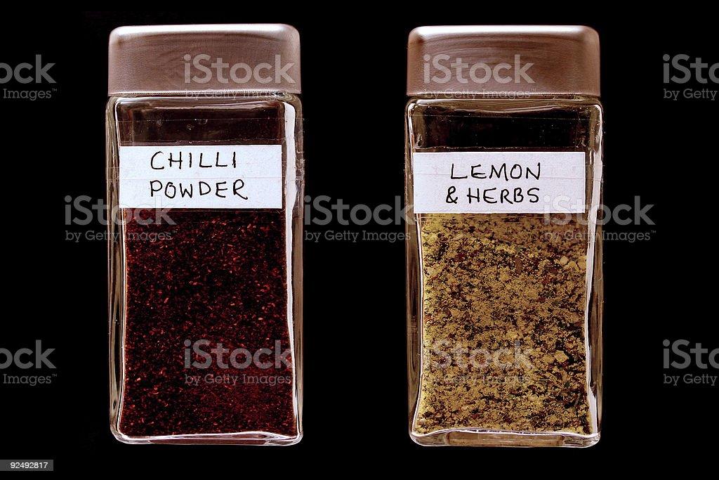 Spice bottles 3 royalty-free stock photo