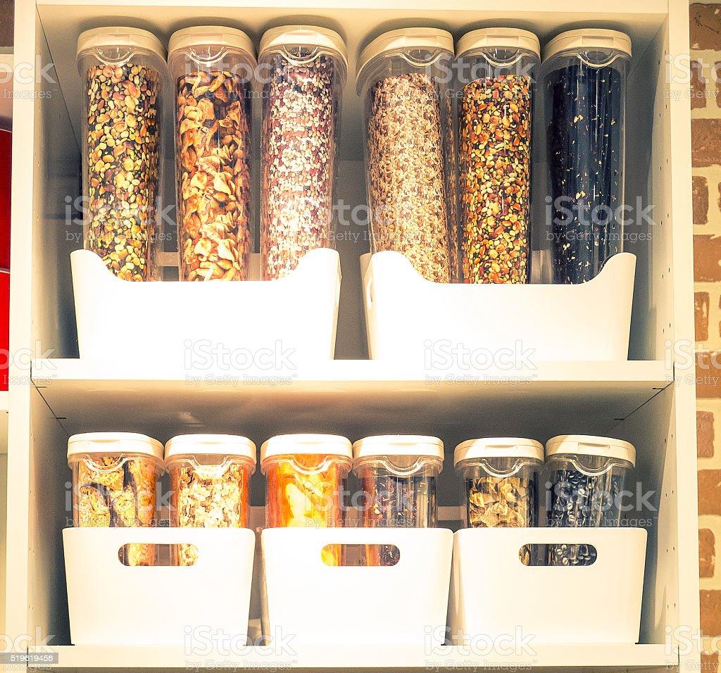 Spice dispensers stock photo