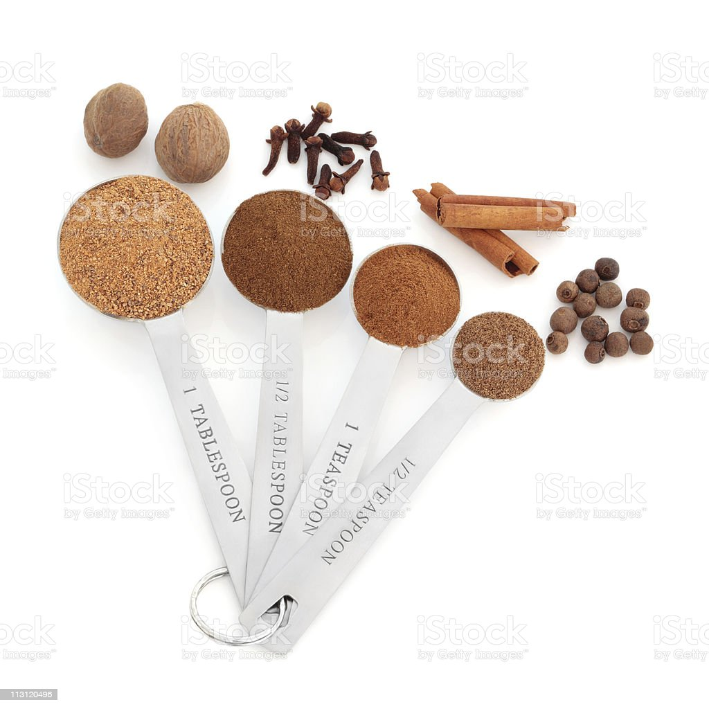 Spice in Measuring Spoons stock photo