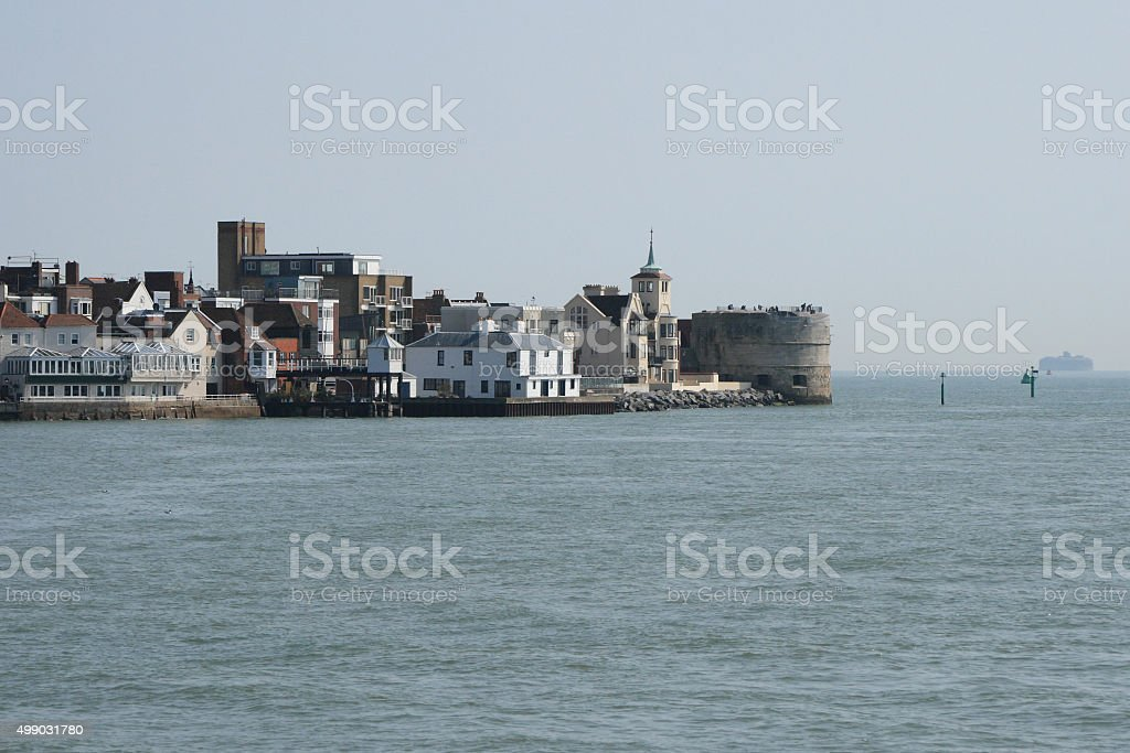 Spice Island and the Round Tower stock photo