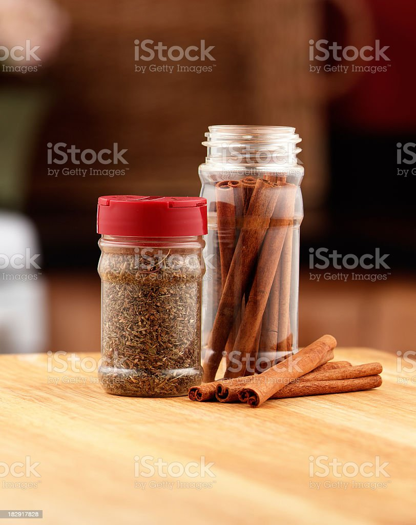 Spice Jars royalty-free stock photo