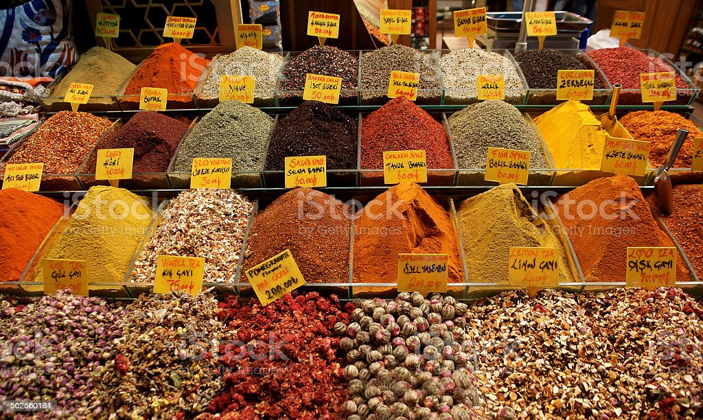 spice market in Egyptian Bazaar istanbul royalty-free stock photo