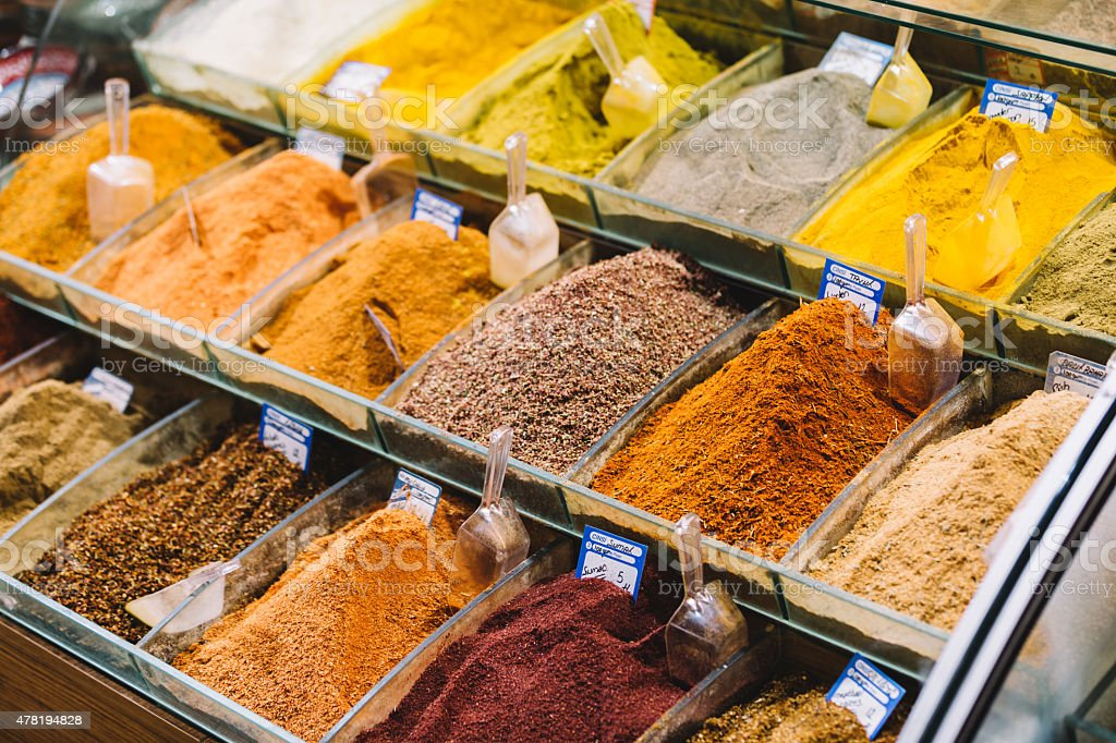 Spice market in Istanbul stock photo