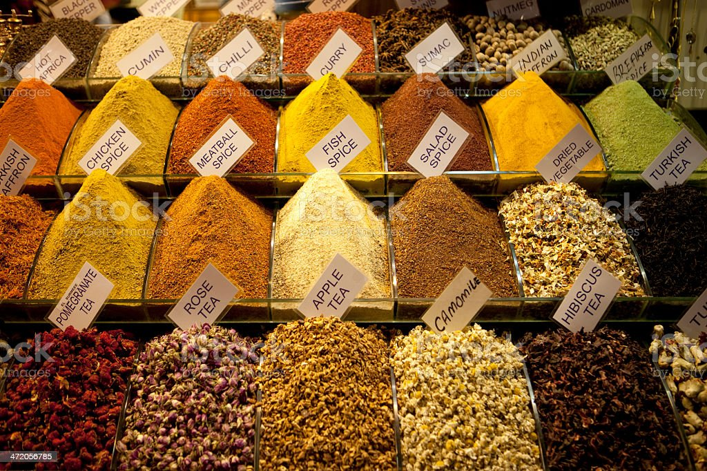 Spice Market in Istanbul Turkey stock photo