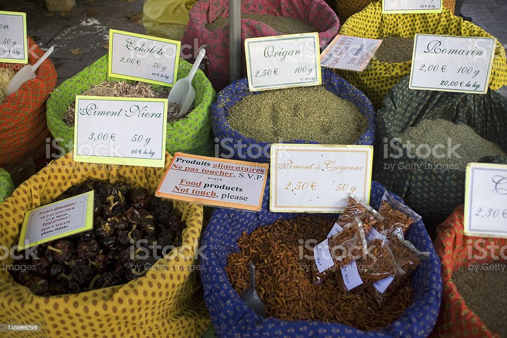 Spice market royalty-free stock photo