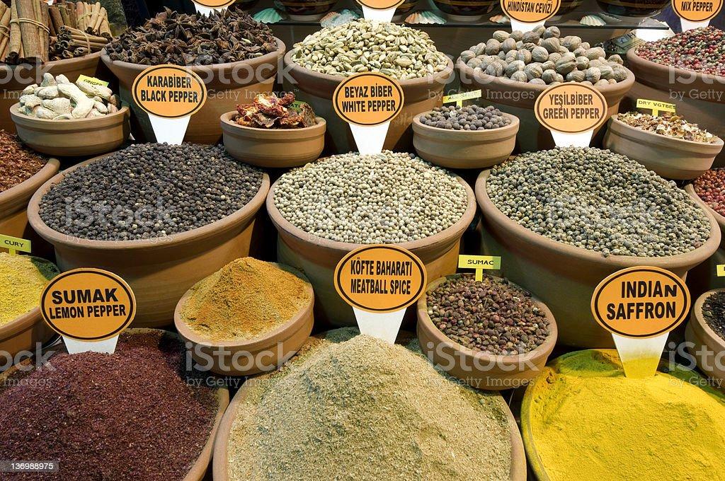Spice market, Turkey-İstanbul royalty-free stock photo