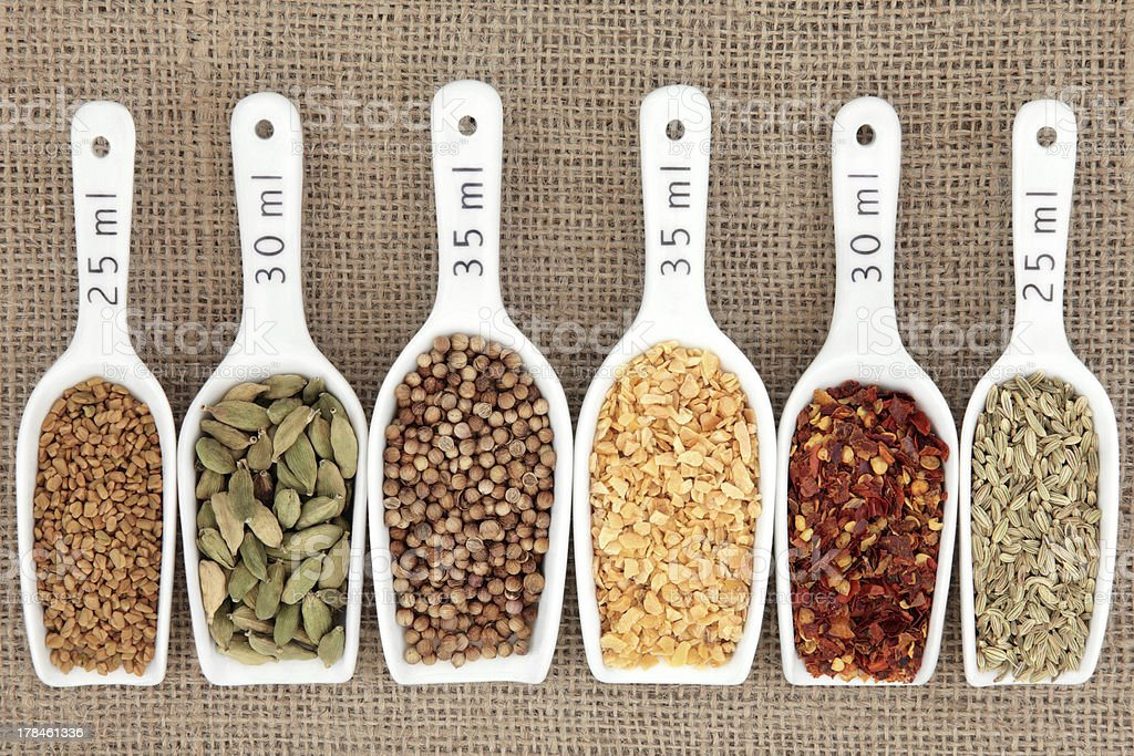 Spice Measurement royalty-free stock photo
