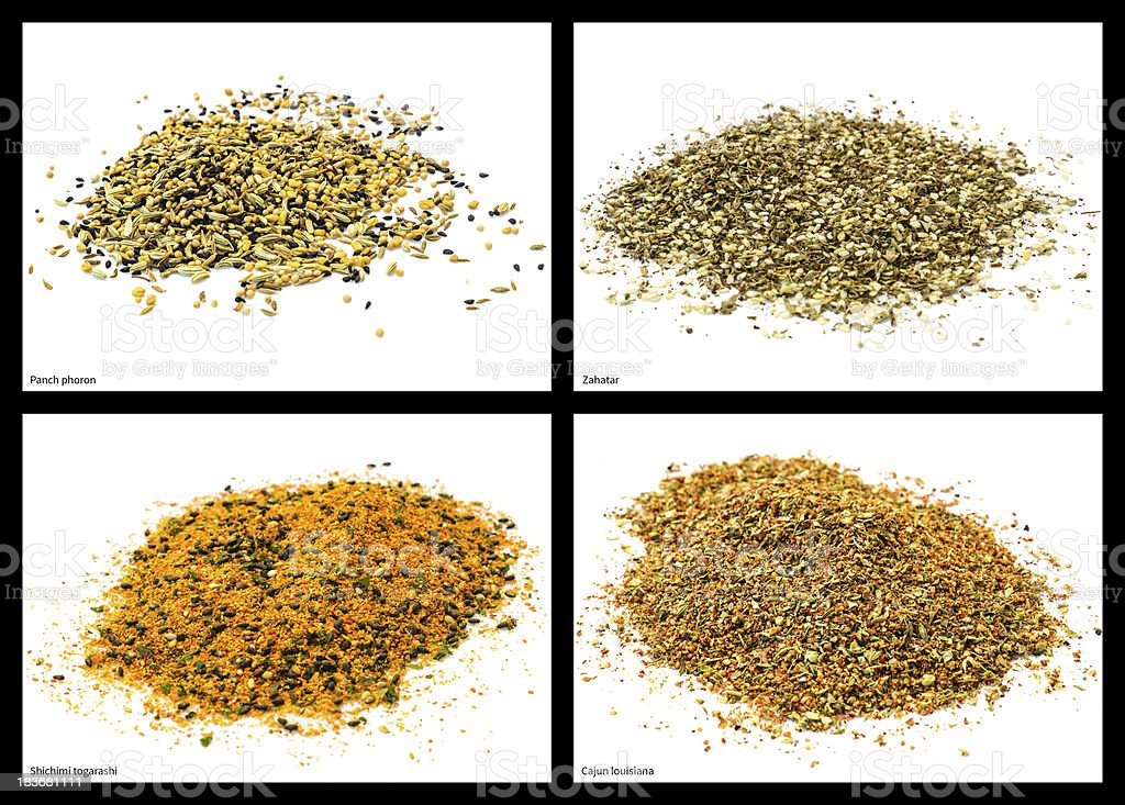 spice mixtures royalty-free stock photo