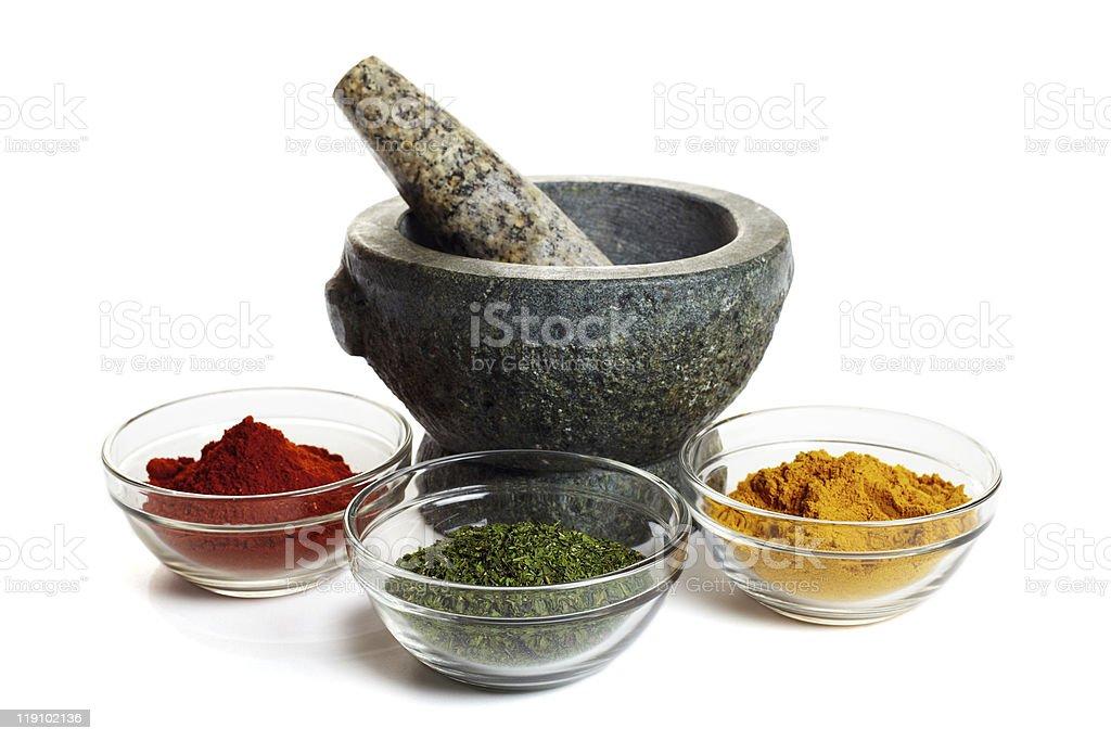 Spice mortar royalty-free stock photo