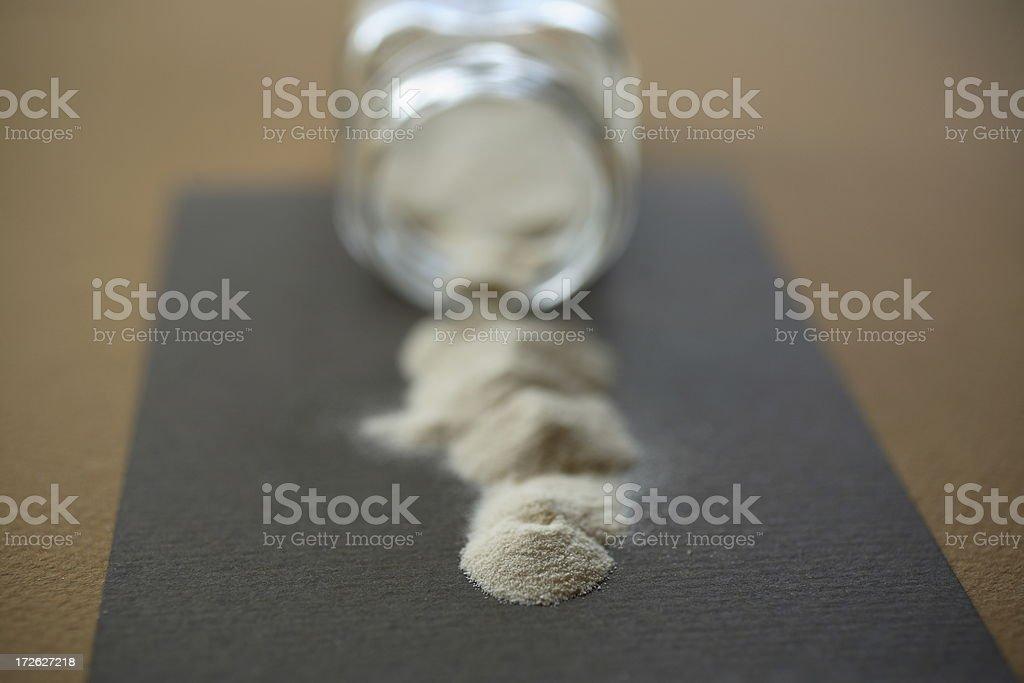 Spice Rack: Agar Powder stock photo