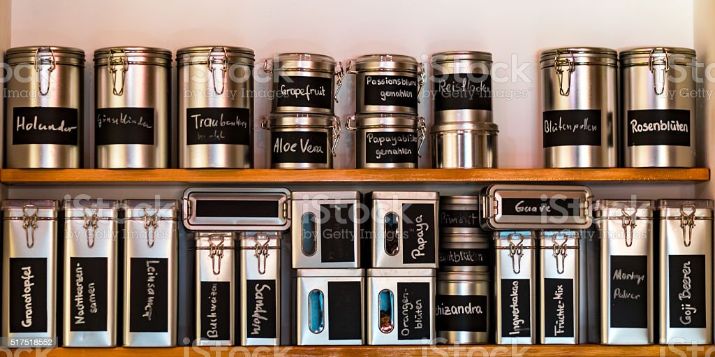 Spice rack stock photo