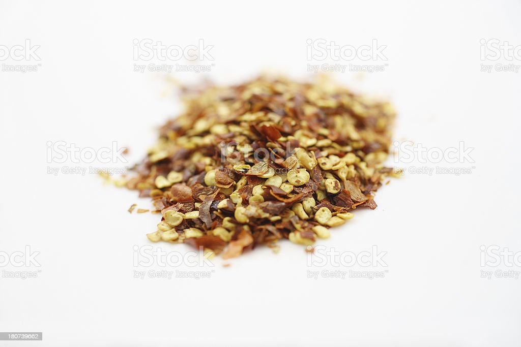 Spice Rack: Red Pepper Flakes stock photo