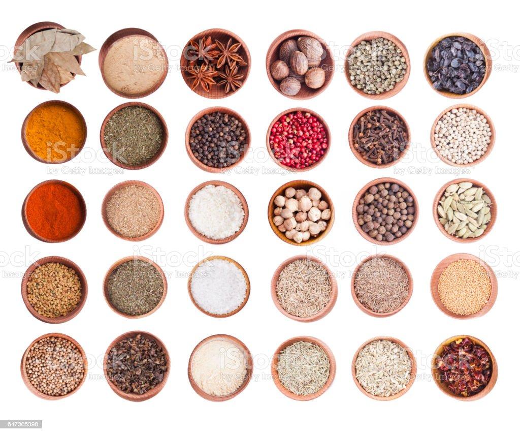 Spice set isolated stock photo