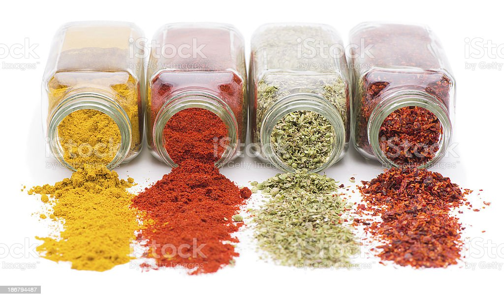 Spice Spill stock photo