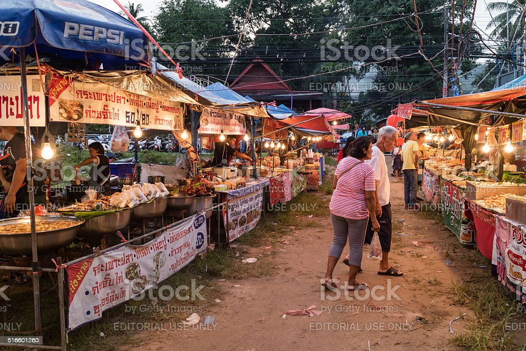 Spice vendor in an outdoor marketplace stock photo