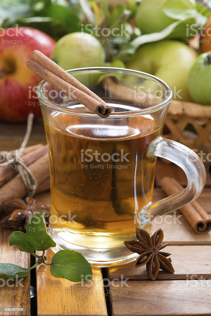 spiced apple cider in a mug royalty-free stock photo
