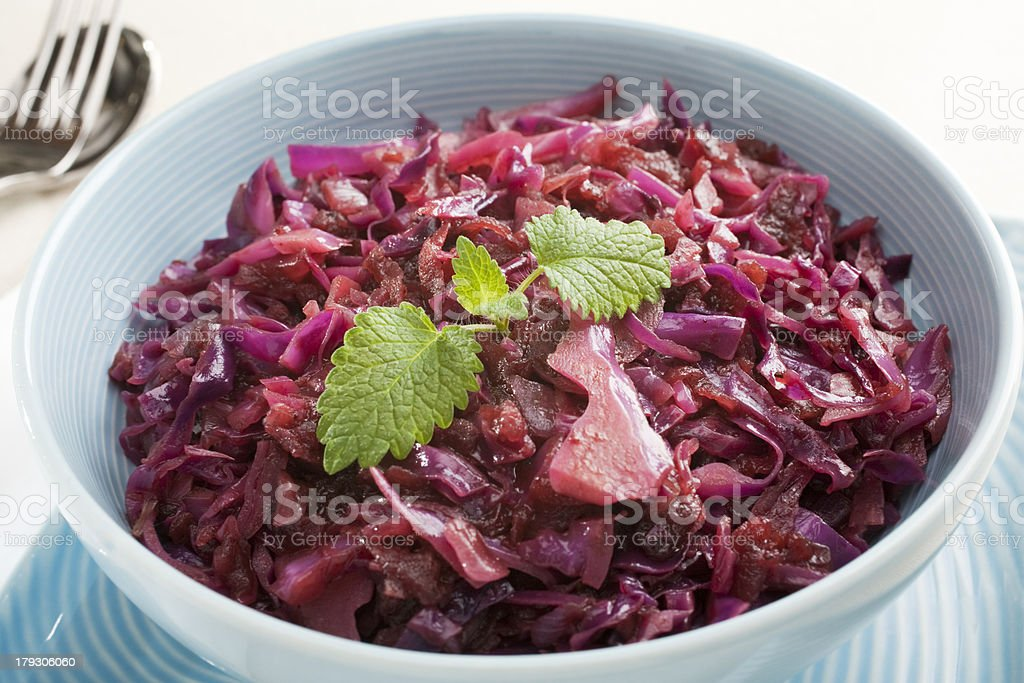 Spiced Red Cabbage with Apple stock photo