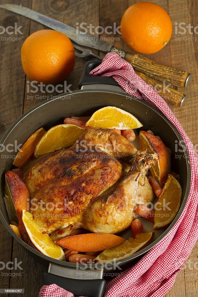 Spiced Roasted Chicken royalty-free stock photo