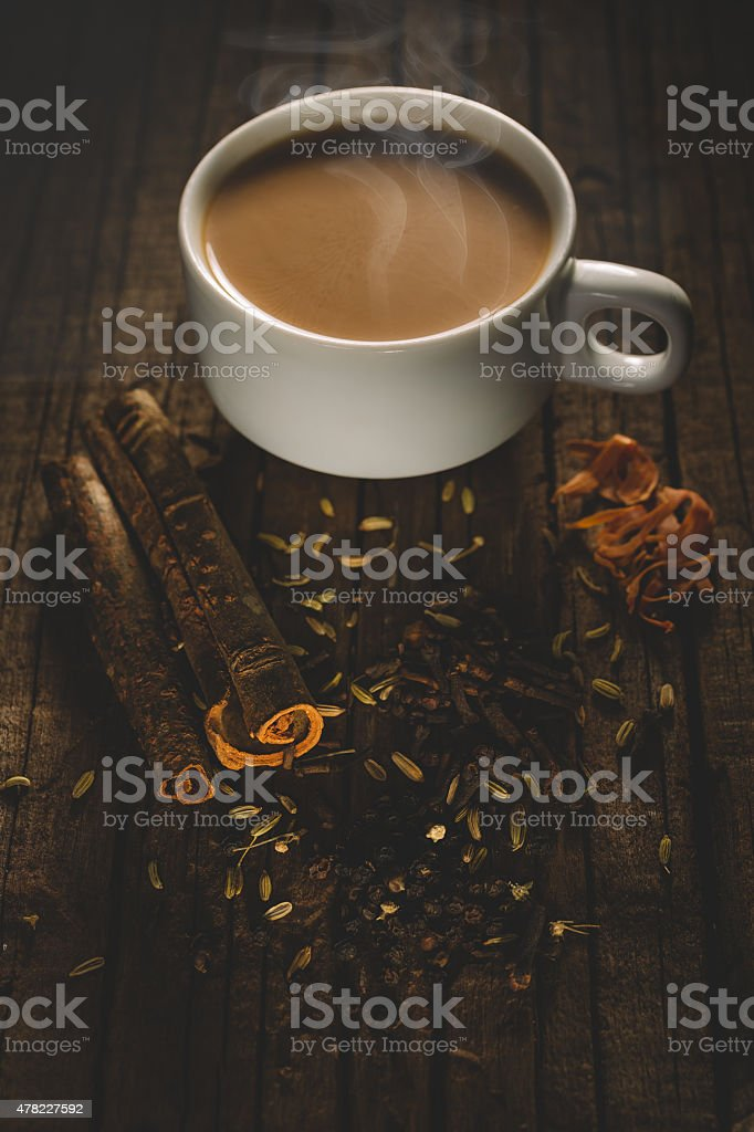 spiced tea stock photo