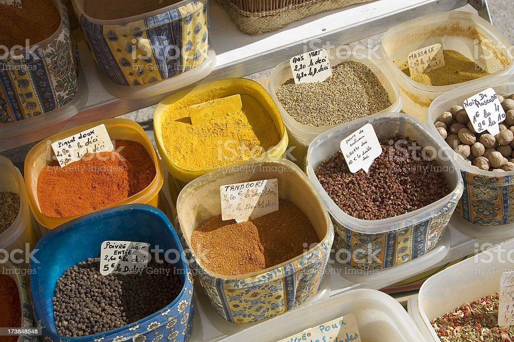 Spicery at a street market royalty-free stock photo
