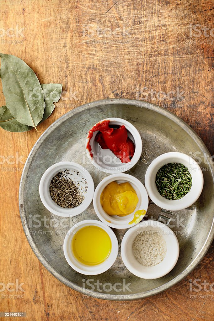 Spices And Condiments stock photo