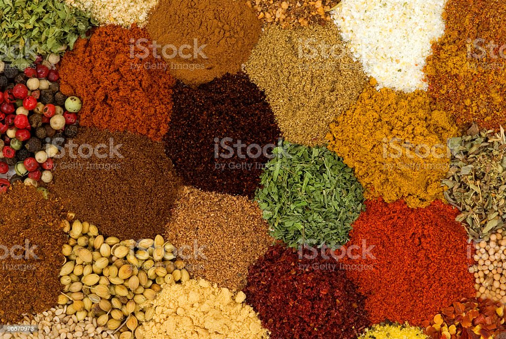 Spices and Herbs royalty-free stock photo