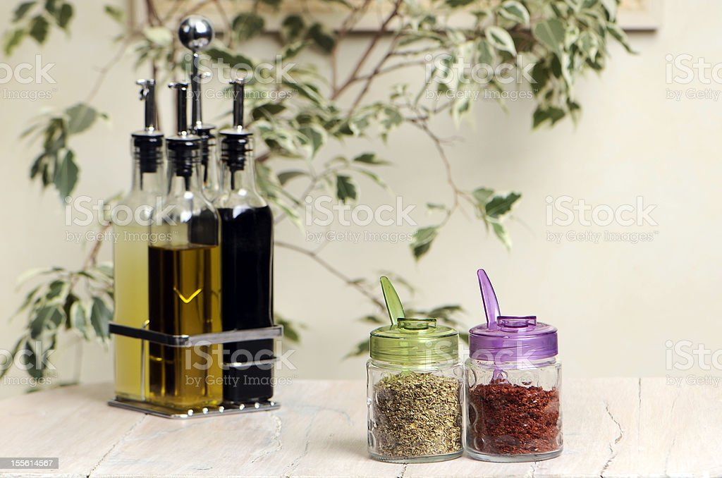 spices  and olive oil royalty-free stock photo