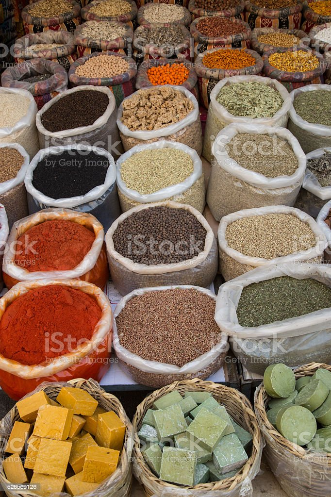 spices and soaps stock photo