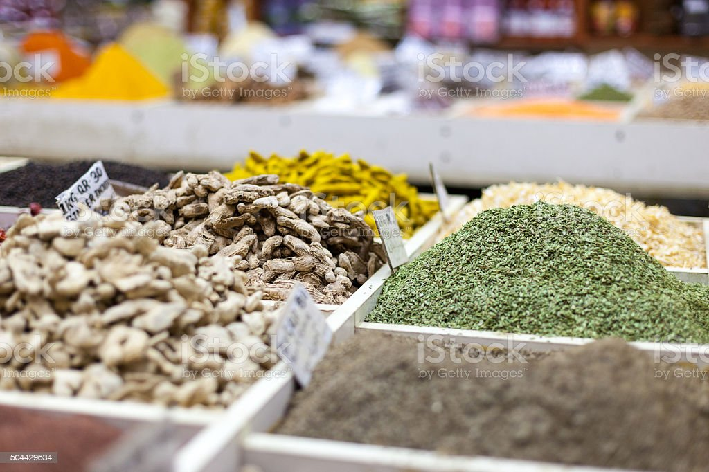 Spices at Souq Waqif, Doha stock photo