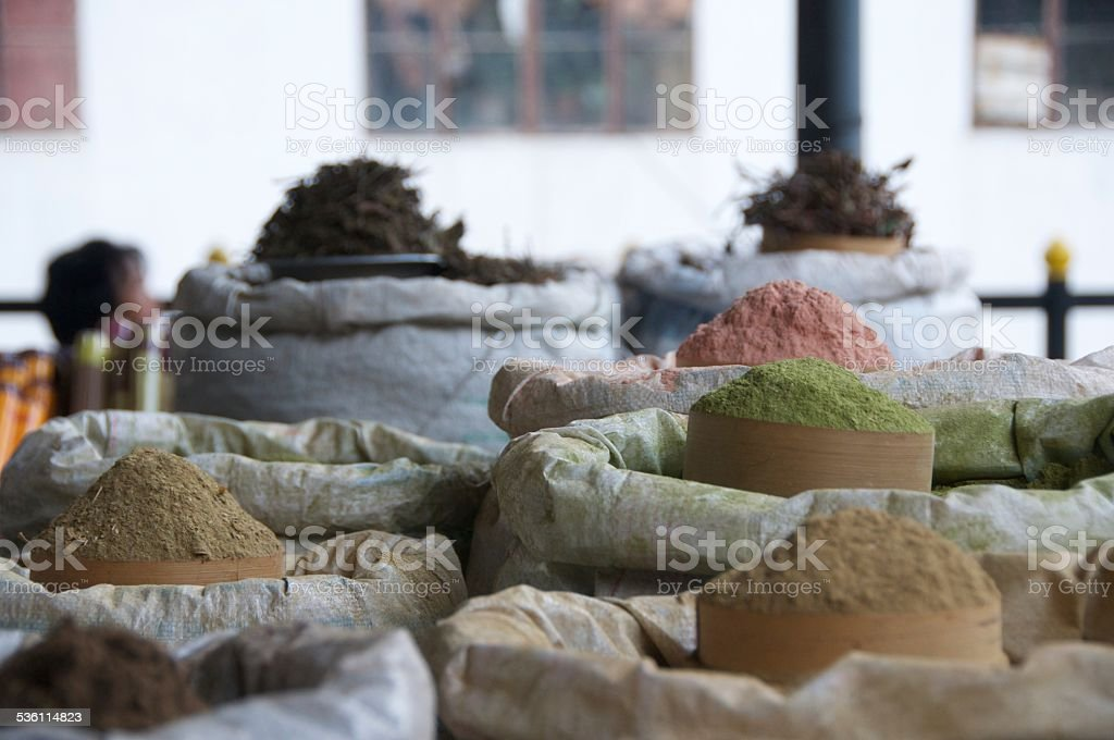 Spices at the Farmers Market royalty-free stock photo