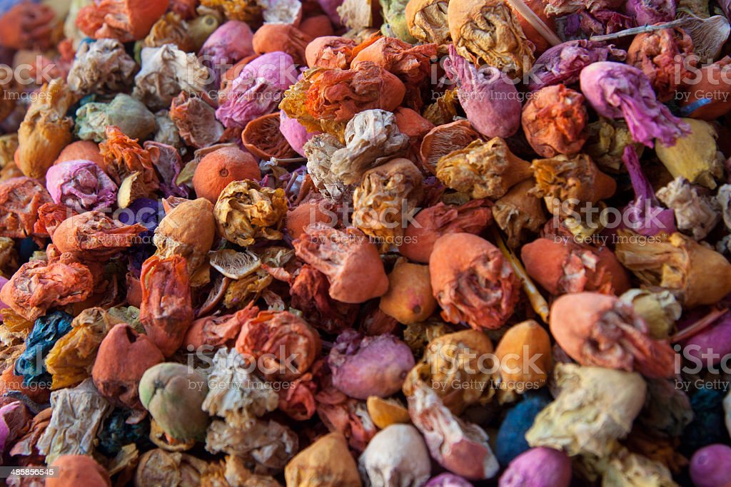Spices at the market of Marrakech, Morocco royalty-free stock photo