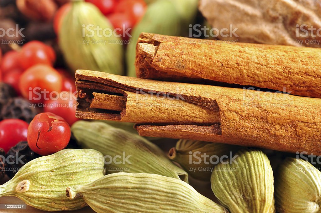Spices background royalty-free stock photo