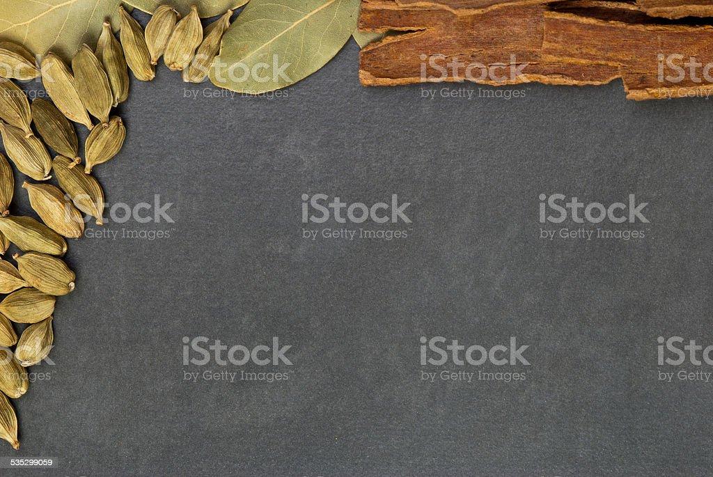 Spices de fondo foto de stock libre de derechos