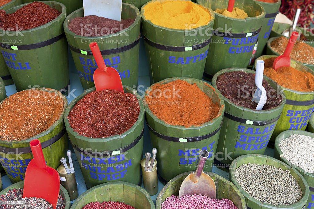 Spices Bazaar stock photo
