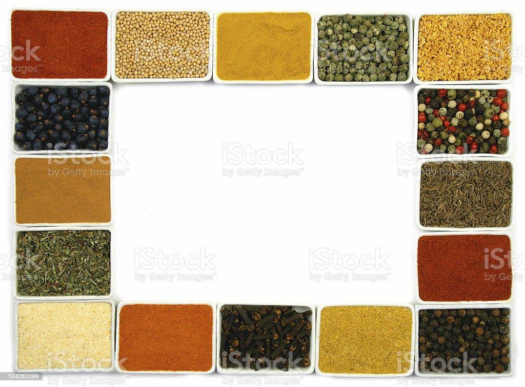 Spices border royalty-free stock photo